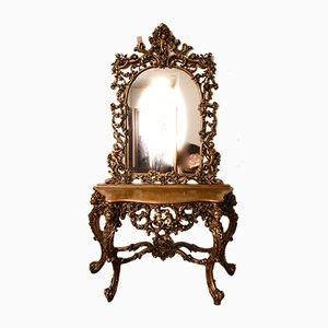 Table Console avec Miroir Sculpt