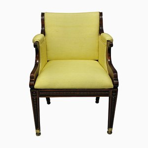 Antique English Regency Faux Rosewood Library Chair