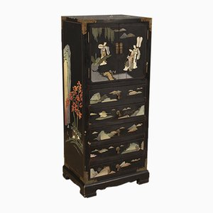 French Chinoiserie Lacquered Chest of Drawers, 1960s