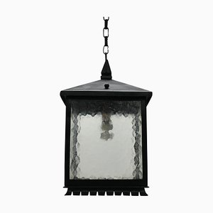 Mid-Century Wrought Iron Square Lanterns, Set of 2