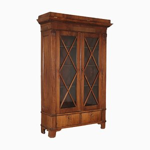 Antique Biedermeier Glass Cabinet