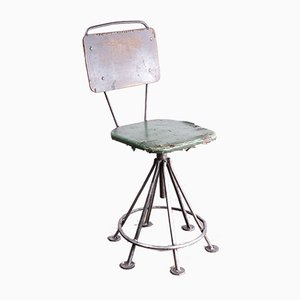 Russian Industrial Swivel Welders Chair, 1950s