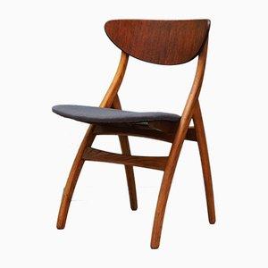 Chaises de Salon Mid-Century en Teck, Set de 5