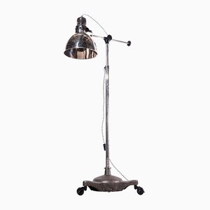 Industrial Chrome Adjustable Floor Lamp, 1950s