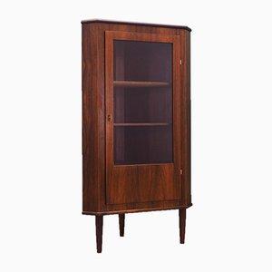Mid-Century Rosewood Corner Cabinet