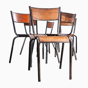 French Mullca Dining Chairs, 1950s, Set of 6