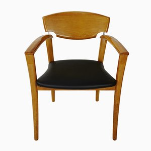 Vintage Beech Dining Chairs, Set of 6