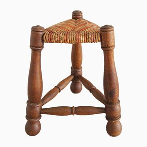 Rush Braided Tripod Stool, 1960s