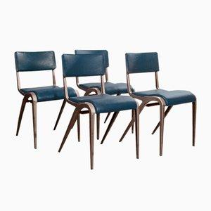 Esszimmerstühle von James Leonard Esavian, 1950er, 4er Set