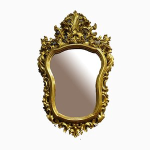 Antique Baroque Cornucopia Mirrors, Set of 2