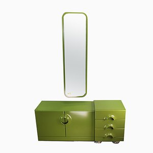 Mid-Century Dressers & Wall Mirror from Schönbuch, Set of 3