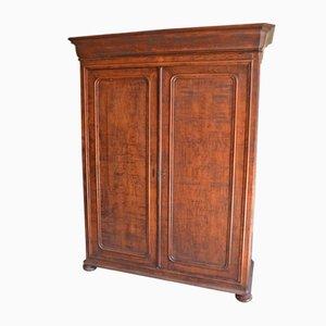Antique French Louis Philippe Oak Cabinet