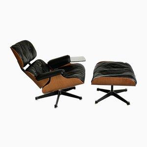 Sessel & Fußhocker Set von Charles & Ray Eames für Herman Miller, 1960er, 2er Set