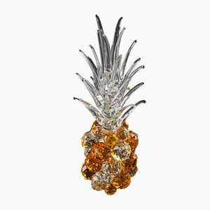 Kleine Bernsteinfarbene Kristallglas Ananas von VGnewtrend