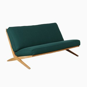 Dutch Birch Scissor Sofa, 1950s