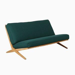 Niederländisches Scheren Sofa aus Birkenholz, 1950er