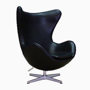 Danish Leather Armchair by Arne Jacobsen for Fritz Hansen, 2007