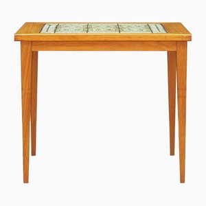 Vintage Danish Ceramic and Teak Coffee Table, 1970s