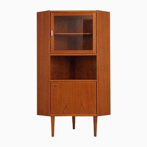 Vintage Danish Teak Veneer Corner Cabinet