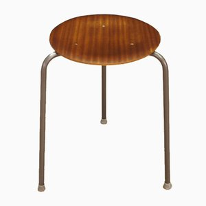 Vintage Danish Teak and Mahogany Veneer Stool