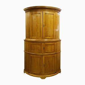 Large Antique Biedermeier Corner Cabinet, 1830s