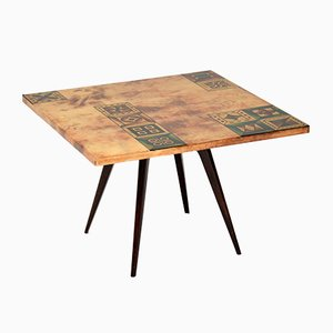 Italian Lacquered Parchment Coffee Table by Aldo Tura, 1960s