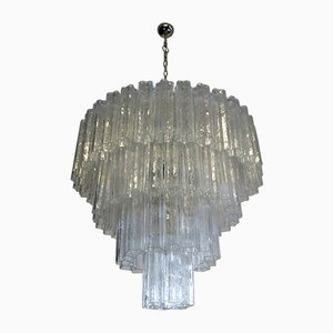 Large Murano Glass Tiered Chandelier, 1988