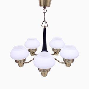5-Leuchten Deckenlampe von ASEA, 1950er