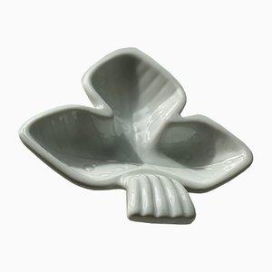 Ceramic Trefoil Plates from Rörstrand, 1940s, Set of 2
