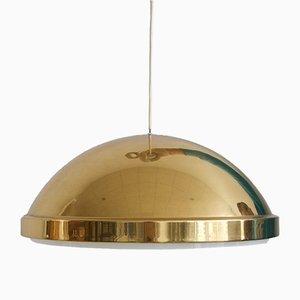 Mid-Century Deckenlampe aus Messing & Acrylglas von Bergboms, 1960er