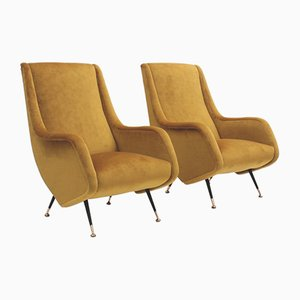 Mid-Century Armchairs by Aldo Morbelli for Isa Bergamo, 1950s, Set of 2