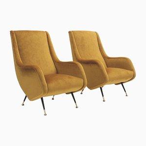 Mid-Century Armlehnstühle von Aldo Morbelli für Isa Bergamo, 1950er, 2er Set
