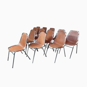 Les Arcs Chairs by Charlotte Perriand for Cassina, 1968, Set of 12