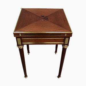 Small Antique Louis XVI Mahogany Game Table