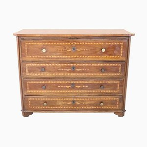 Antique Inlaid Walnut Dresser, 1680s