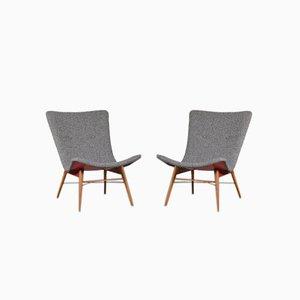 Czech Lounge Chair by Miroslav Navrátil for Cesky Nabytek, 1950s