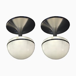 Vintage Space Age Ceiling Lamps from Stilux Milano, 1970s, Set of 2