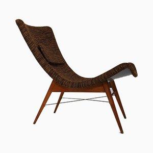 Mid-Century Modern Czech Fiberglass Lounge Chair by Miroslav Navratil, 1959