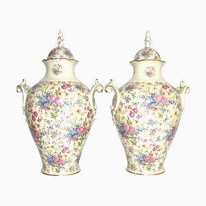Vasi in porcellana con coperchio di Thomas Rosenthal, anni '50