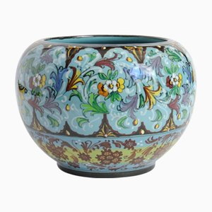 Hand-Painted Ceramic Vase from Mengaroni Pesaro, 1930s