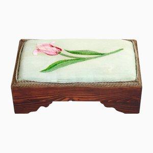 Italian Rosewood Tulip Footrest, 1930s