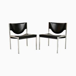 Vintage Danish Steel Lounge Chairs, 1960s, Set of 2