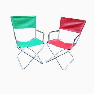 Folding Garden Chairs, 1970s, Set of 2