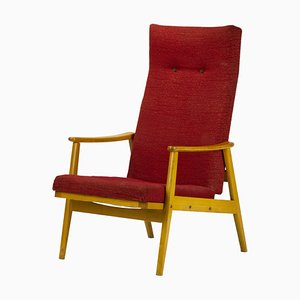 Reclining High Back Armchair from TON, 1960s