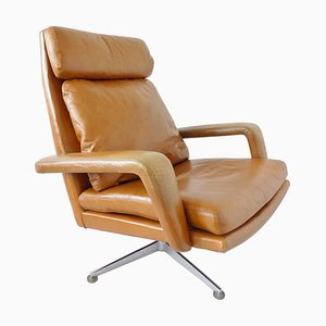 Leather Lounge Chair from Hans Kaufeld, 1960s