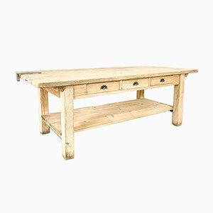 Large Vintage Elm Kitchen Table