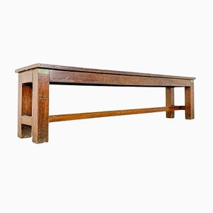 Vintage Oak Farmhouse Bench