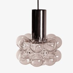Vintage Glass Pendant Lamp by Tynell and Gantenbrink for Glashütte Limburg