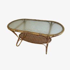 Table Basse Vintage en Bambou par Dirk van Sliedrecht pour Rohe Noordwolde