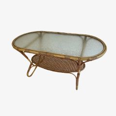 Vintage Bamboo Coffee Table by Dirk van Sliedrecht for Rohe Noordwolde